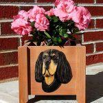 Gordon Setter Planter Flower Pot 1