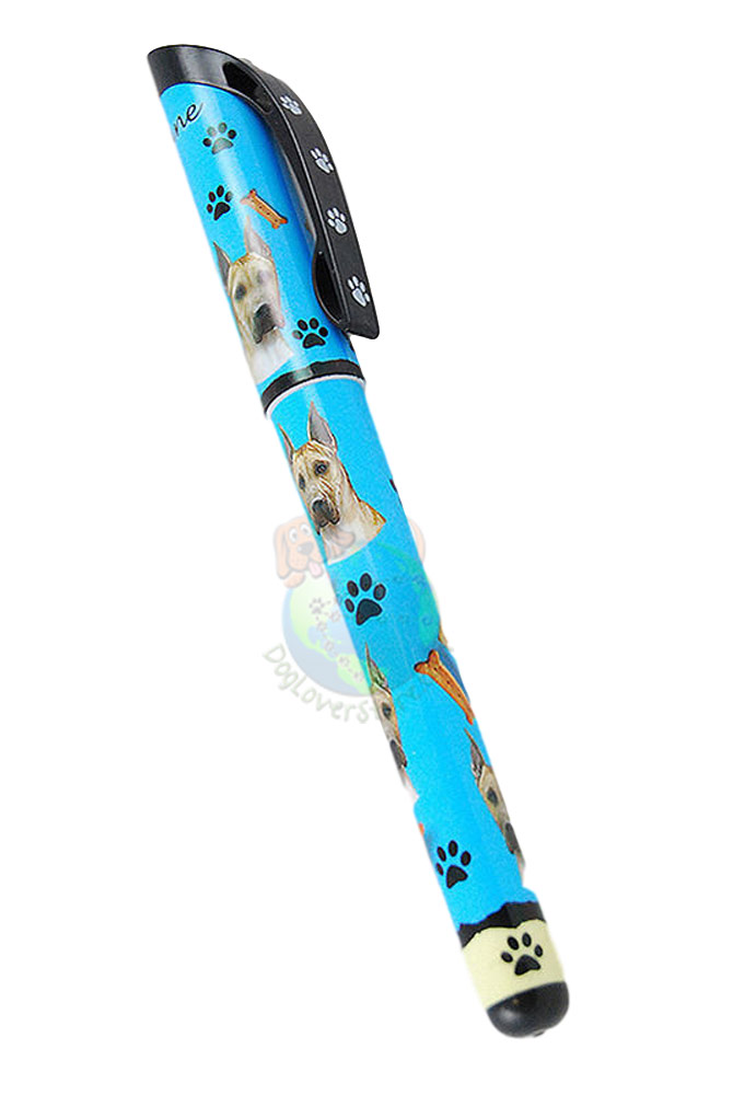 Cropped Great Dane Writing Pen Blue in Color