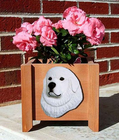 Great Pyrenees Planter Flower Pot 1