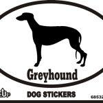 Greyhound Dog Silhouette Bumper Sticker 1