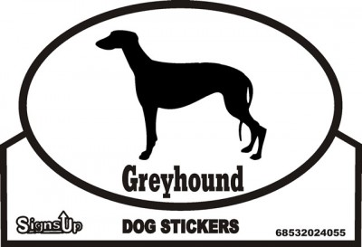 Greyhound Dog Silhouette Bumper Sticker