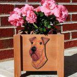Irish Terrier Planter Flower Pot 1