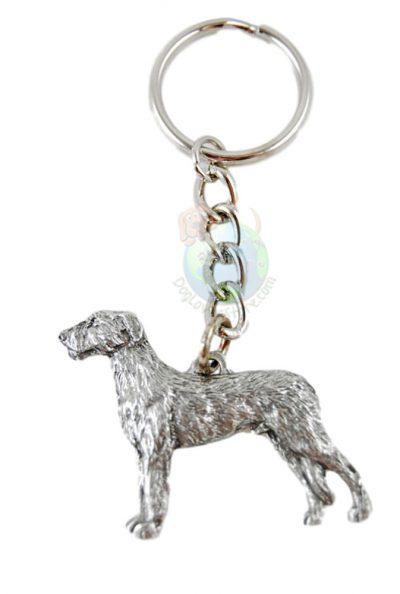 Irish Wolfhound Pewter Keychain