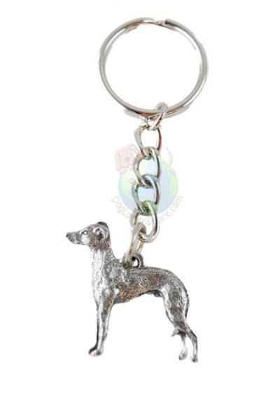 Italian Greyhound Pewter Keychain
