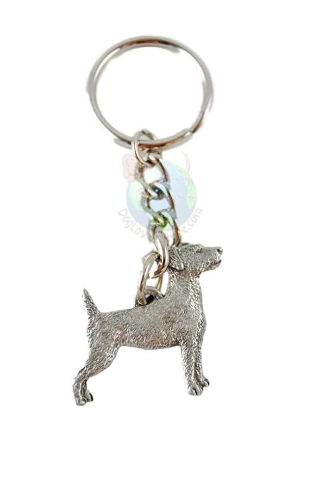Jack Russell Terrier Pewter Keychain