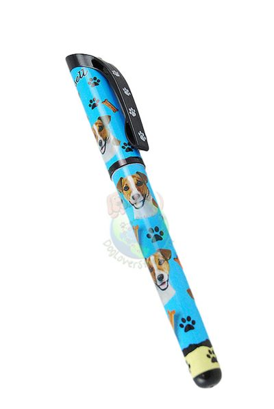 Brown & White Jack Russell Terrier Writing Pen Blue in Color