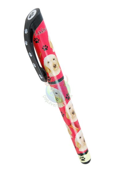 Blonde Labradoodle Writing Pen Red in Color