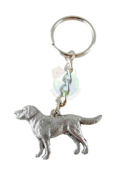 Labrador Retriever Pewter Keychain