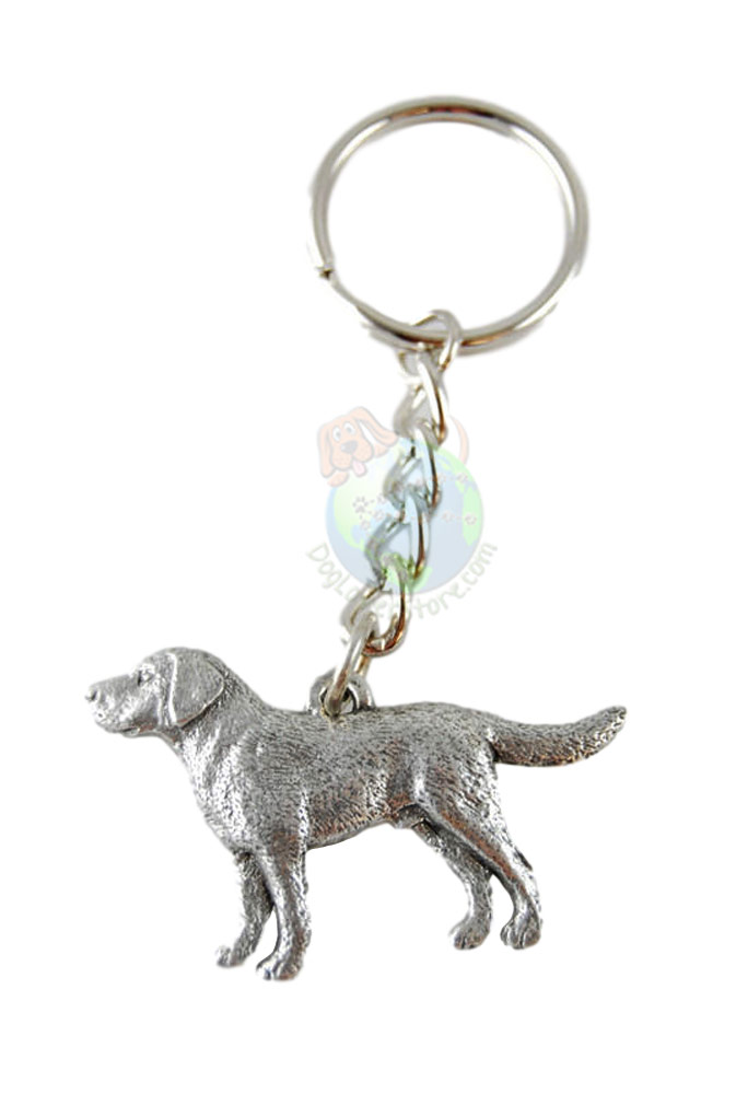 Labrador Retriever Pewter Keychain