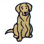 Yellow Lab Iron on Embroidered Patch