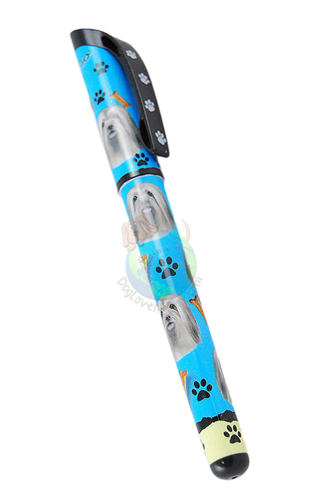 Lhasa Apso Writing Pen Blue in Color