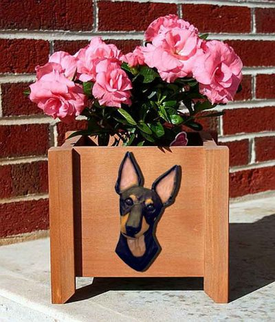 Manchester Terrier Planter Flower Pot 1
