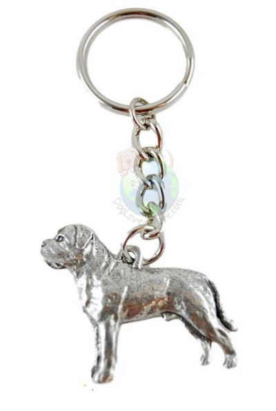Mastiff-Dog-Fine-Pewter-Silver-Keychain-Key-Chain-Ring-400749500609