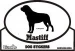 Mastiff Dog Silhouette Bumper Sticker