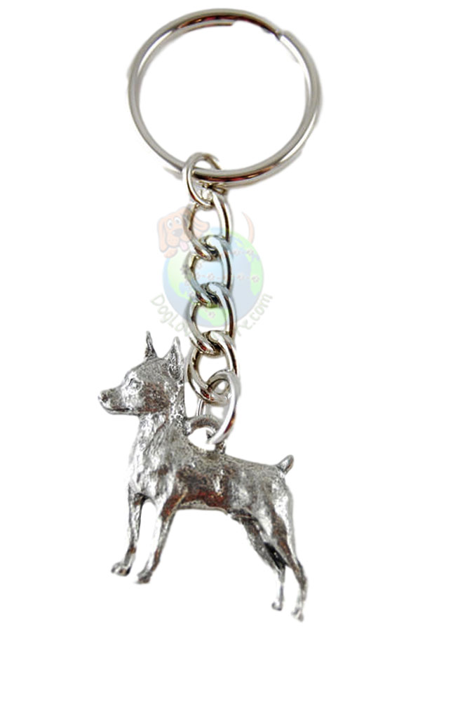 Miniature Pinscher Pewter Keychain