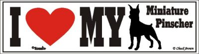 Miniature Pinscher_dog_love_bumper_sticker