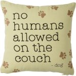 No Humans on Couch Pillow