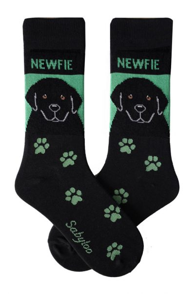 Newfoundland Socks - Green and Black in Color