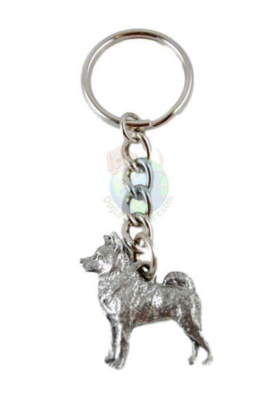 Norwegian Elkhound Pewter Keychain