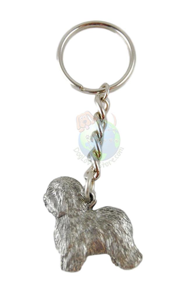 Old English Sheepdog Pewter Keychain