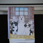 Bearded Collie Kitchen Hand Towel 2