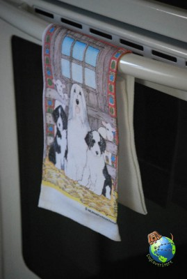 Bearded Collie Kitchen Hand Towel 1