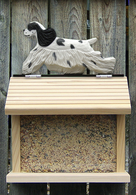 American Cocker Spaniel Hand Painted Dog Bird Feeder Parti