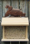 American Cocker Spaniel Hand Painted Dog Bird Feeder Brown