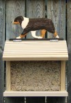 Australian Shepherd Black Tri Bird Feeder