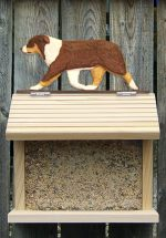 Australian Shepherd Hand Painted Dog Bird Feeder Red Tri