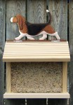 Basset Hound Hand Painted Dog Bird Feeder Tri