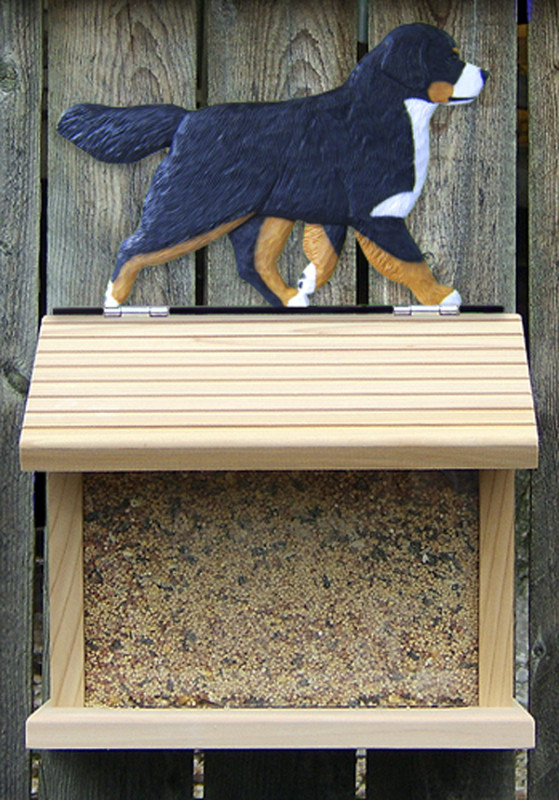 Bernese Mountain Dog Hand Painted Dog Bird Feeder