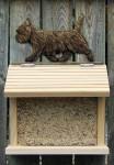 Cairn Terrier Hand Painted Dog Bird Feeder Black/Brindle