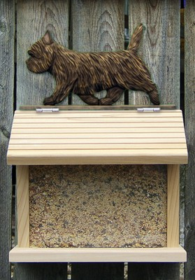 Cairn Terrier Hand Painted Dog Bird Feeder Black/Brindle 1