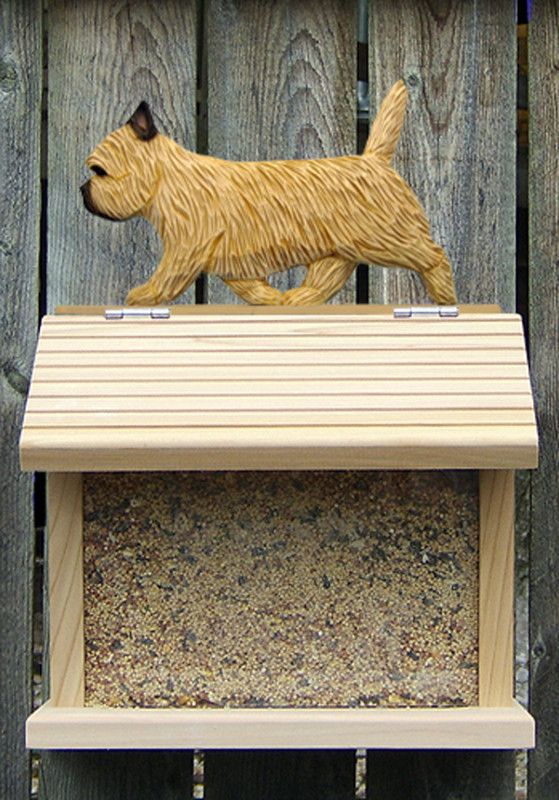Cairn Terrier Hand Painted Dog Bird Feeder Wheaten