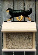 Cavalier King Charles Hand Painted Dog Bird Feeder Black/Tan