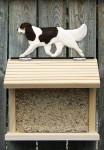 Cavalier King Charles Hand Painted Dog Bird Feeder Tri