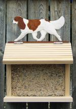 Cavalier King Charles Hand Painted Dog Bird Feeder Blenheim