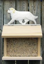 Clumber Spaniel Hand Painted Dog Bird Feeder Lemon