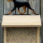 Doberman Pinscher Hand Painted Dog Bird Feeder Black/Tan 1