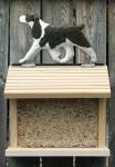 English Springer Spaniel Hand Painted Dog Bird Feeder Liver