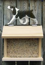 English Springer Spaniel Hand Painted Dog Bird Feeder Liver