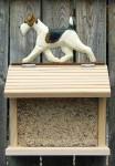 Wire Haired Fox Terrier Hand Painted Dog Bird Feeder