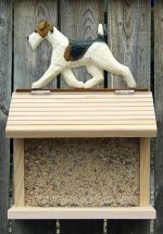 Wire Haired Fox Terrier Hand Painted Dog Bird Feeder