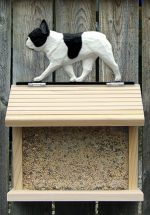 French Bulldog Hand Painted Dog Bird Feeder Pied