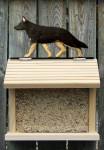 German Shepherd Hand Painted Dog Bird Feeder Black w/ Tan Points