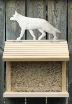 German Shepherd Hand Painted Dog Bird Feeder White