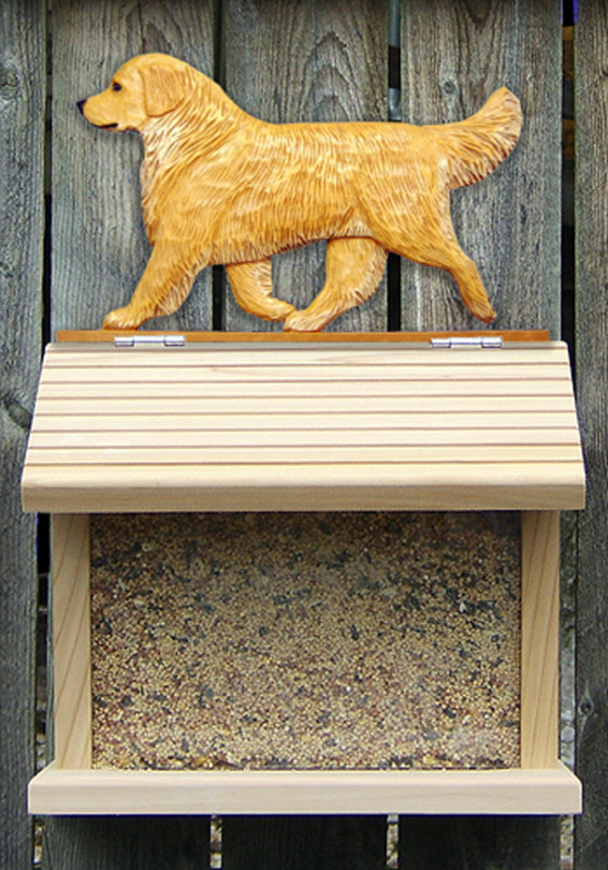 Golden Retriever Hand Painted Dog Bird Feeder Light