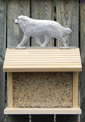 Great Pyrenees Hand Painted Dog Bird Feeder