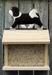 Havanese Hand Painted Dog Bird Feeder Black/White